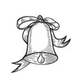 christmas engraving bell vector image vector image