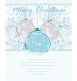 Christmas Framework style with baubles card vector image vector image