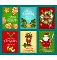 Christmas holiday greeting card and poster set vector image vector image