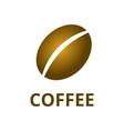 coffee bean logo vector image vector image