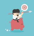 concept cartoon businessman to reach his goal vector image vector image