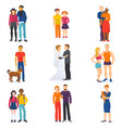 couple happy man and woman in love or young vector image vector image