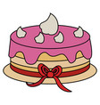 delicious cake celebration icon vector image
