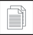 document icon vector image vector image