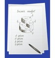 Doodle round chart vector image vector image