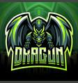 dragon king mascot logo design vector image vector image