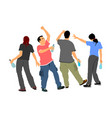 drunk persons with alcohol bottles crew on party vector image vector image