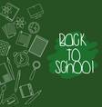 education school utensils background design vector image vector image