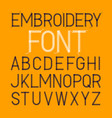 embroidery font thin typeface vector image vector image