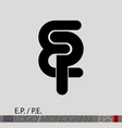EP PE monogram logo vector image