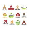 farm logo icons flat logotype vector image