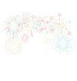 fireworks festival and event background vector image vector image