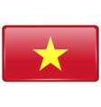 Flags Vietnam in the form of a magnet on vector image vector image