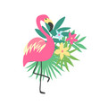 Flamingo tropical bird design