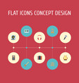 flat icons lyre turntable audio box and other vector image vector image
