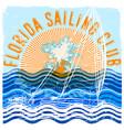 florida sailing club graphic design vector image vector image