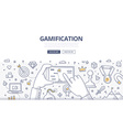 gamification doodle concept vector image vector image