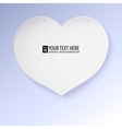 Greeting card with paper heart contains gradients vector image vector image
