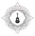 guitar icon symbol vector image vector image