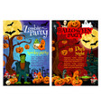 halloween zombie party invitation poster design vector image vector image