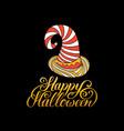 hat with happy halloween vector image vector image