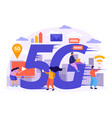 high speed internet flat composition vector image vector image
