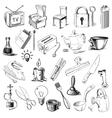 Household home objects collection vector image