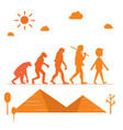 human evolution silhouette progress growth vector image vector image