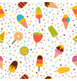 ice cream seamless pattern cute colorful summer vector image vector image