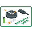 isometric smoking area concept information vector image