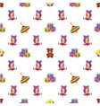 kids toys seamless pattern children playthings vector image vector image