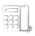 landline phone with blank keys icon image vector image vector image