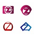 Letter z logo icon design template elements vector image