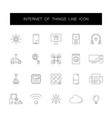 line icons set internet of things pack vector image vector image