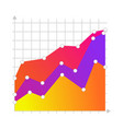 linear graph chart icon vector image vector image