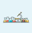 medicine background design elements for mobile vector image vector image