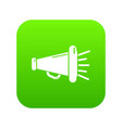 megaphone icon green vector image vector image