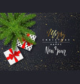 merry christmas ans happy new year poster vector image