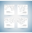 Molecule And Communication Background set vector image vector image