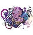 Music Girl6 vector image vector image