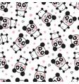 panda body pattern vector image vector image