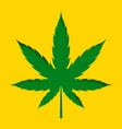 papercut style marijuana cannabis leaf design vector image