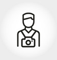 photographer icon line flat style tourist with vector image vector image