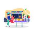 preparing birthday celebration at home vector image vector image
