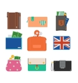 Purse wallet isolated vector image vector image
