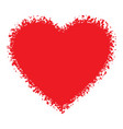 Red Hand Drawn Grunge Heart logo vector image vector image