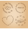 romantic design elements for valentines day vector image