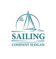 sailing yacht logo vector image