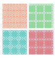 seamless geometric line pattern in stencil style vector image vector image