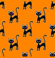 seamless pattern with black cats halloween concept vector image